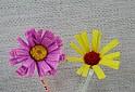 주름지 종이꽃